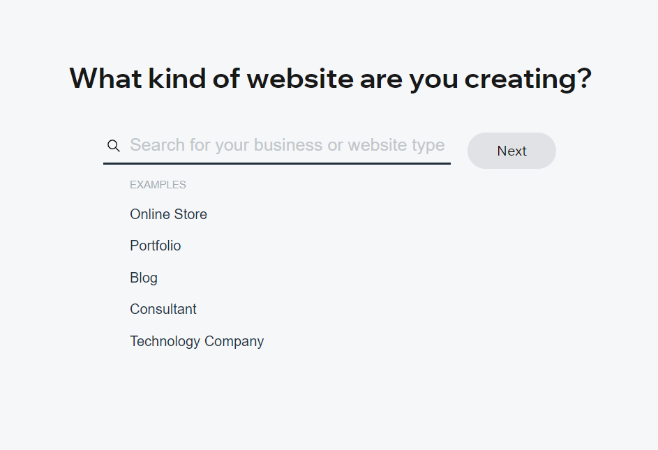 Wix:What kind of website do you want to create? -Business -Online Strore -Photography -Music -Designer -Restaurants & Food -Fitness -Events -Blog -Beauty & Welness - Portfolio & CV - Other